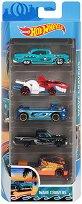 Hot Wheels - Wave Cravers - Комплект от 5 метални колички - играчка