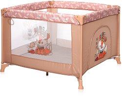 Сгъваема бебешка кошара за игра - Game Zone: Beige Foxy - аксесоар