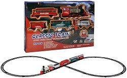 Влак - Classic Train - Детски комплект за игра със звукови и светлинни ефекти - продукт