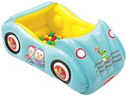 Надуваем детски център - Кола - Комплект с 25 пластмасови топки - продукт