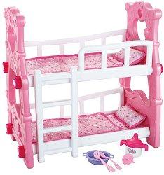 Двуетажно легло за кукли - играчка