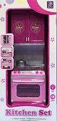 Готварска печка и шкаф - Комплект за игра със светлинни и звукови ефекти -