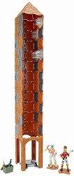 """Крепостна кула с изстрелвачка - Комплект с 2 фигурки и аксесоари от серията """"Fortnite""""  - играчка"""