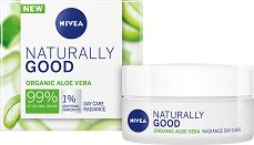 Nivea Naturally Good Organic Aloe Vera Radiance Day Care - Освежаващ дневен крем за лице с био алое вера - пяна