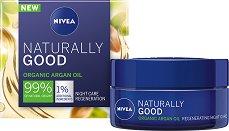 Nivea Naturally Good Organic Argan Oil Regenerating Night Care - Възстановяващ нощен крем с био арганово масло - маска