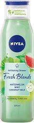 Nivea Fresh Blends Watermelon Shower Gel - Душ гел с диня, мента и кокосово мляко - гел