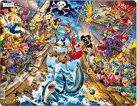 Пирати - Пъзел в картонена подложка -