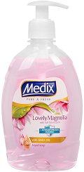 Течен сапун с антибактериална съставка - Medix Lovely Magnolia - мокри кърпички