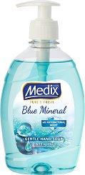 Течен сапун с антибактериална съставка - Medix Blue Mineral - мокри кърпички