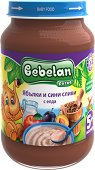 Bebelan Puree - Млечна каша от ябълки и сини сливи с елда - продукт