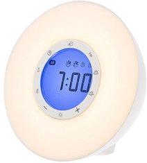 Настолен радиочасовник Lanaform - Wake-up Light - Със светлинен симулатор на изгрев и залез