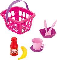 Кошница за пикник с аксесоари - Детски комплект за игра -