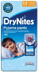 Huggies DryNites Pyjama Pants Boy: Small - Нощно бельо за еднократна употреба за деца с тегло от 16 до 23 kg - пъзел