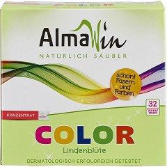 Натурален прах за цветно пране - AlmaWin Color - Разфасовка от 1 kg -