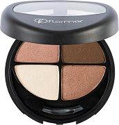 Flormar Quartet Eyeshadow - Палитра с 4 цвята сенки за очи -