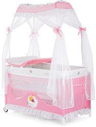 Сгъваемо бебешко легло на две нива - Sahara 2020 - Комплект с балдахин и повивалник -
