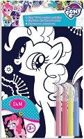 """Оцветявай с флумастери - Пинки Пай - Творчески комплект от серията """"Малкото пони"""" - фигура"""