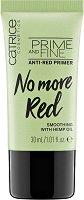 Catrice No More Red Prime And Fine Anti-Red Primer - Основа за грим срещу зачервяване с конопено масло -