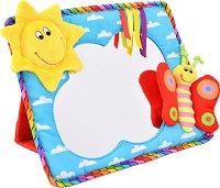 Огледало - Слънце - Мека бебешка играчка -