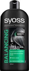 Syoss Balancing Hair & Scalp Shampoo - Балансиращ шампоан за всеки тип коса - продукт
