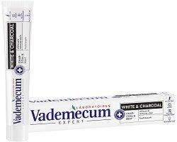 Vademecum Pro White & Charcoal Toothpaste - Избелваща паста за зъби с активен въглен - крем
