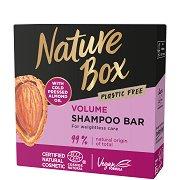 Nature Box Almond Oil Shampoo Bar - Твърд шампоан за обем с масло от бадем - балсам