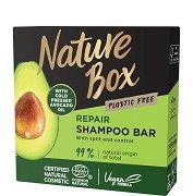 Nature Box Avocado Oil Repair Shampoo Bar - Натурален твърд шампоан за коса с масло от авокадо - маска