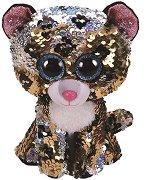 """Леопард - Sterling - Плюшена играчка с пайети от серията """"Flippables"""" - играчка"""