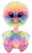 """Щраус - Asha - Плюшена играчка от серията """"Beanie Boos"""" - играчка"""