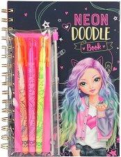 Топ модел - книжка за оцветяване с неонови маркери - раница