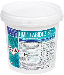 Таблетки за дезинфекция на помещения и повърхности - HMI Tabidez 56 - За професионална употреба - разфасовка от 1 kg - гел