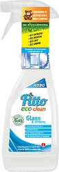 Почистващ препарат с растителни съставки за стъкло - Fitto Eco Clean - Подходящ за детски стаи и хора с алергии - разфасовка от 0.500 l - спирала