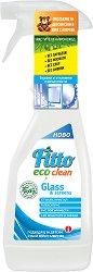 Почистващ препарат с растителни съставки за стъкло - Fitto Eco Clean - Подходящ за детски стаи и хора с алергии - разфасовка от 0.500 l - продукт