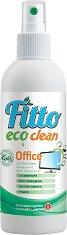 Почистващ препарат с растителни съставки за екрани и офис оборудване - Fitto Eco Clean - Подходящ за детски стаи и хора с алергии - разфасовка от 200 ml -