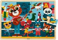 Музиканти - Детски дървен пъзел -