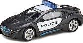 """Полицейска кола - BMW i8 - Метална количка от серията """"Super: Police"""" - играчка"""