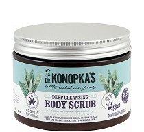 Dr. Konopka's Deep Cleansing Body Scrub - Натурален дълбоко почистващ ексфолиант за тяло - боя