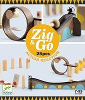 Детски дървен конструктор - Zig and Go - играчка