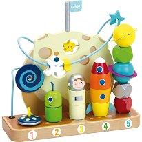 Галактика - Дървена играчка за координация - играчка