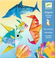 Оригами - Животни от океана - Творчески комплект -