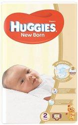 Huggies New Born 2 - Пелени за еднократна употреба за бебета с тегло от 4 до 6 kg -