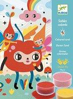 Оцветявай с цветен пясък - Приказни картини - Творчески комплект за рисуване -