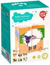 Дървени кубчета - Домашни животни - Детски дървен комплект за игра -