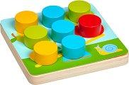 Мозайка - Цветове и животни - Детски дървен комплект за игра -