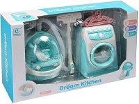 """Прахосмукачка и пералня - Детски комплект със светлинни и звукови ефекти от серията """"Dream Kitchen"""" -"""