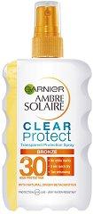Garnier Ambre Solaire Clear Protect Bronze - SPF30 - Слънцезащитен спрей за тяло -