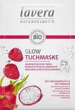Lavera Illuminating Sheet Mask - Озаряваща лист маска за лице с малина и питая -