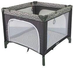 Сгъваема бебешка кошара за игра - Stars: Grey - продукт