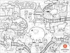 Силиконова подложка - Зоопарк - детски аксесоар