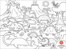 Силиконова подложка - Динозаври -